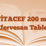 VİTACEF 200 mg Efervesan Tablet