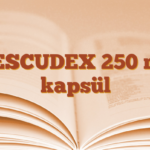 VESCUDEX 250 mg kapsül
