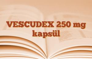 VESCUDEX 250 mg kapsül