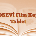 VOSEVİ Film Kaplı Tablet