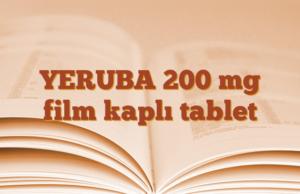 YERUBA 200 mg film kaplı tablet