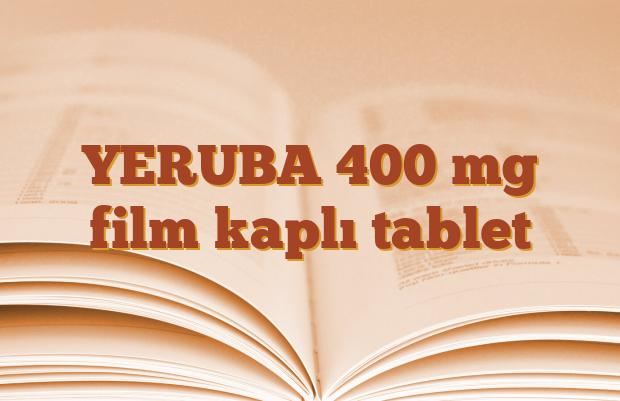 YERUBA 400 mg film kaplı tablet