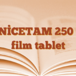 ZENİCETAM 250 mg film tablet