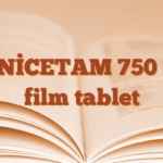 ZENİCETAM 750 mg film tablet