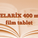 VELARİX 400 mg film tablet