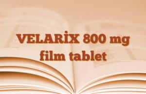VELARİX 800 mg film tablet