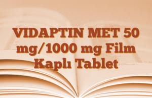 VIDAPTIN MET 50 mg/1000 mg Film Kaplı Tablet