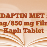 VIDAPTIN MET 50 mg/850 mg Film Kaplı Tablet