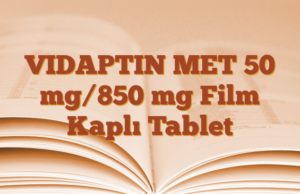 VIDAPTIN MET 50 mg/850 mg Film Kaplı Tablet