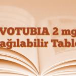 VOTUBIA 2 mg Dağılabilir Tablet