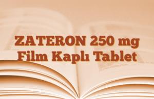 ZATERON 250 mg Film Kaplı Tablet