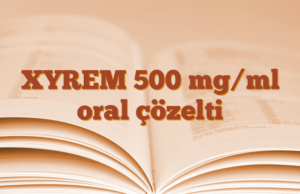 XYREM 500 mg/ml oral çözelti