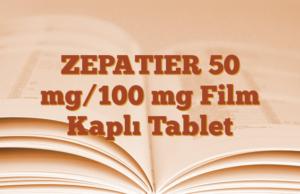 ZEPATIER 50 mg/100 mg Film Kaplı Tablet