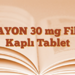 ZAYON 30 mg Film Kaplı Tablet