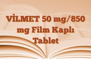 VİLMET 50 mg/850 mg Film Kaplı Tablet